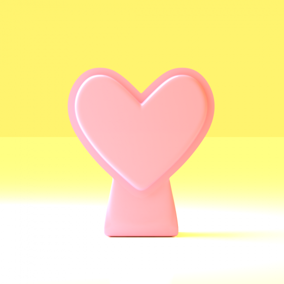Compact Heart-Shaped Vase