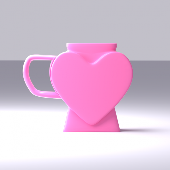 Heart-Shaped Mug